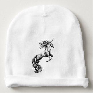 Gorra de la gorrita tejida con el unicornio gorrito para bebe