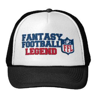 Gorra de la leyenda del fútbol de la fantasía