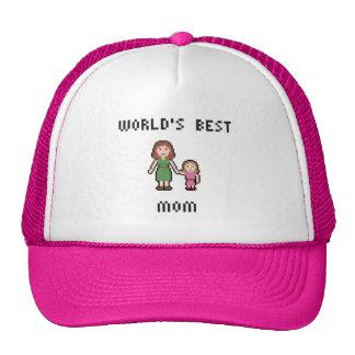 Gorra de la mamá del chica del mundo del pixel el