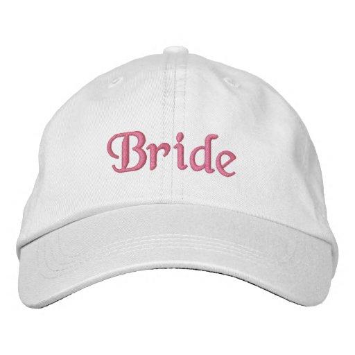 Gorra de la novia gorra de beisbol