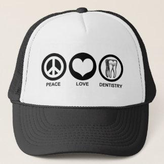 Gorra de la odontología del amor de la paz