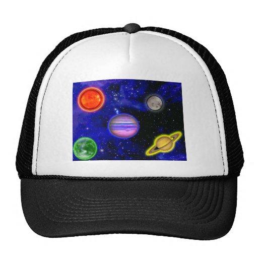 Gorra de la pintura del espacio