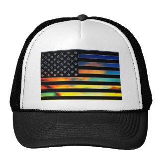 Gorra de la puesta del sol de la bandera de los
