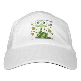 Gorra de la serpiente verde, blanco gorra de alto rendimiento