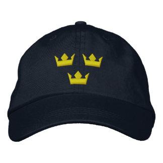 Gorra de las coronas de Suecia Tre Gorros Bordados