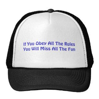 Gorra de las reglas