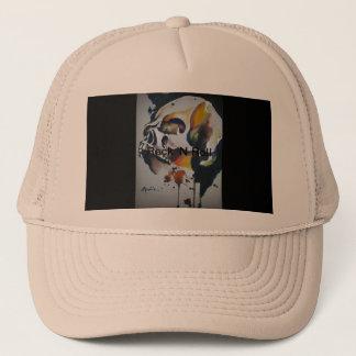Gorra de los camioneros del arte del cráneo
