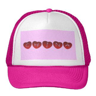 Gorra de los corazones de China