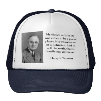 Gorra de los políticos y de los Whorehouses de Har