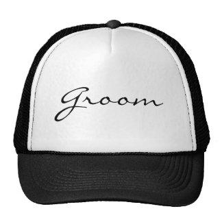 Gorra de lujo del novio de la escritura