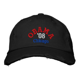 Gorra de Obama '08 Chicago Gorro Bordado