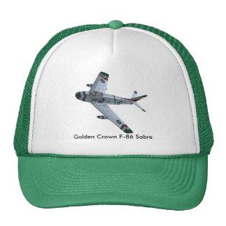 Gorra de oro de la corona F-86 SABRE