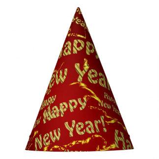 gorra de oro del fiesta de la Feliz Año Nuevo