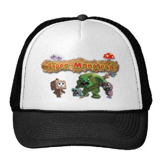Gorra de papel del camionero de los monstruos