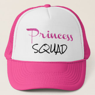Gorra de princesa Squad Pink Glitter Trucker's