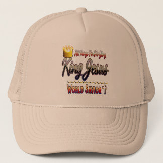 Gorra de rey Jesús World Savior Trucker