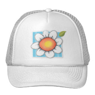Gorra del azul de la alegría de la margarita