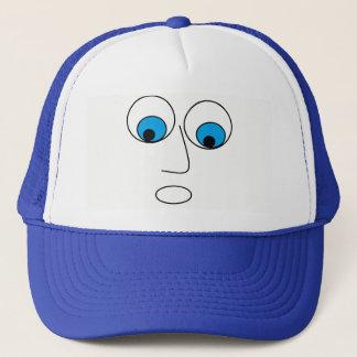 Gorra del azul del diseño de la cara del hombre