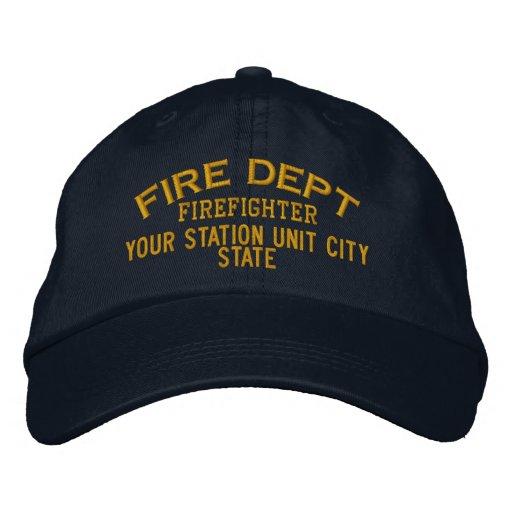 Gorra del bombero de Personalizable Gorra De Béisbol Bordada