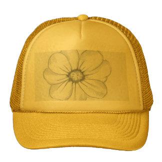 Gorra del bosquejo de la flor