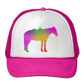 Gorra del caballo de la pintura del arco iris