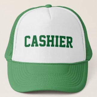 Gorra del CAJERO con el texto verde