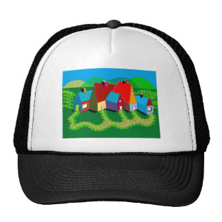 Gorra del camionero con arte popular