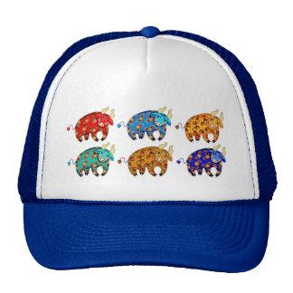 Gorra del camionero con las porciones de toros