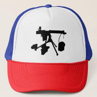 Gorra del camionero de la ametralladora