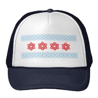 Gorra del camionero de la bandera de Chicago del C