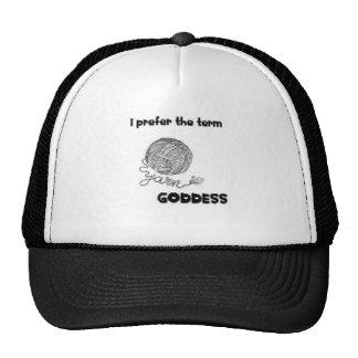 Gorra del camionero de la diosa del hilado