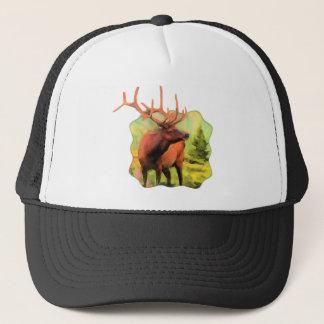 Gorra del camionero de la fauna de los alces de