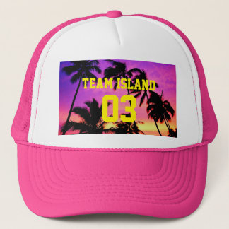 Gorra del camionero de la isla del equipo