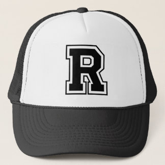 """Gorra del camionero de la letra """"R"""""""
