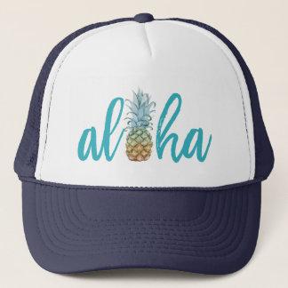 Gorra del camionero de la piña de la hawaiana