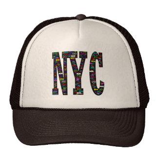 Gorra del camionero de la pintada de NYC,