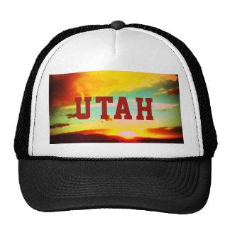 Gorra del camionero de la puesta del sol de Utah