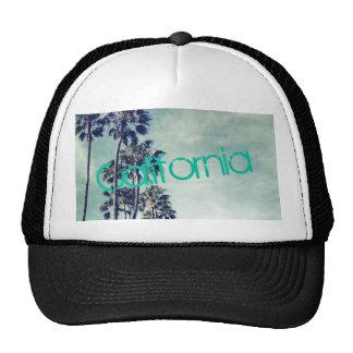 Gorra del camionero de las palmeras del océano de