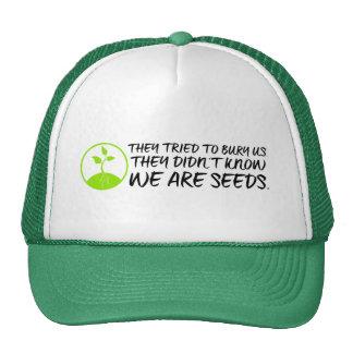 Gorra del camionero de las semillas