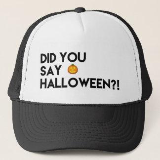 Gorra del camionero del amante de Halloween
