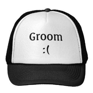 Gorra del camionero del boda del novio