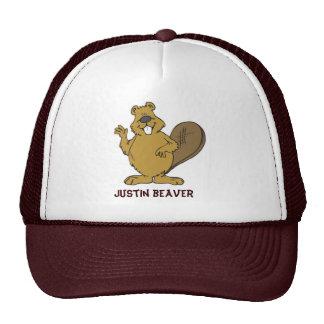 Gorra del camionero del castor de Justin