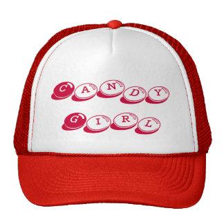 Gorra del camionero del chica del caramelo