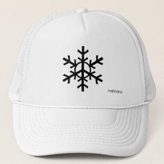 Gorra del camionero del copo de nieve de la paz -