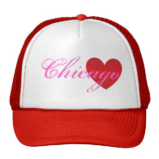 Gorra del camionero del corazón de Chicago