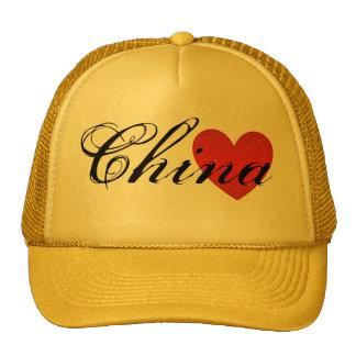 Gorra del camionero del corazón de China