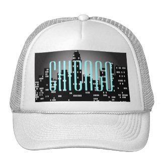 Gorra del camionero del horizonte de Chicago