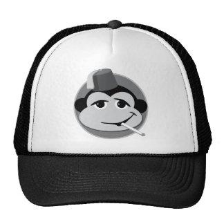gorra del camionero del mono que fuma
