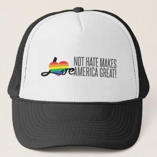 Gorra del camionero del odio del amor no (arco