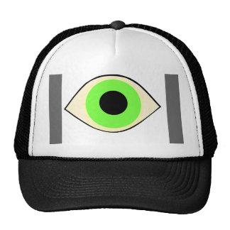 Gorra del camionero del ojo verde